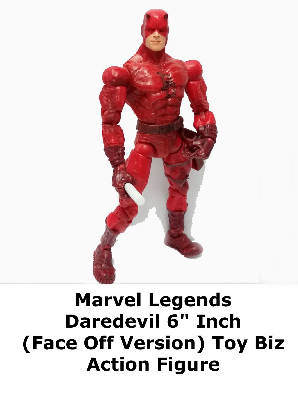 "Review: Marvel Legends Daredevil 6"" Inch (Face Off Version) Toy Biz Action Figure"