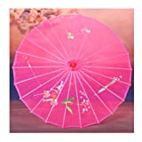 JapanBargain 2189, Japanese Parasol Chinese Asian Nylon Umbrella Parasol for Photography Cosplay Costumes Wedding Party Home Decoration Adult Size, 30 inch, Transparent Hot Pink (Color: Transparent Hot Pink, Tamaño: 30-inch)