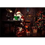 BoTong Christmas Background Photo Props Santa Claus Studio Retro Photography Backdrops 7x5FT christmas107 (Color: Botong-christmas107, Tamaño: 7x5FT (210cm X 150cm))