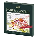 Faber-Castel Pitt Artist Brush Pens (12 Pack), Multicolor (Color: Assorted Colors)