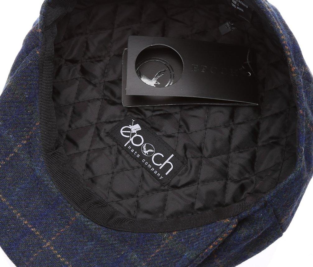 Men's Premium 100% Wool 8Panels Plaid Herringbone Newsboy Hat With MIRMARU Socks. 4