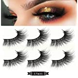 Mink Eyelashes- 100% Siberian Hand-Made 3D False Eyelashes Dramatic Thick Nature Crisscross Nature Fake Eyelashes Strip Eyelashes 3Pairs (Tamaño: RRQ2)