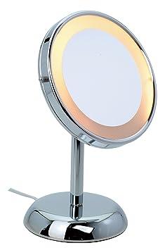 Miroir poser loupe loupe jessica avec clairage cuisine maison o142 for Miroir loupe