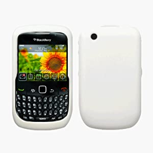 White Silicone Case / Skin / Cover for RIM BlackBerry Curve 8520 / 8530