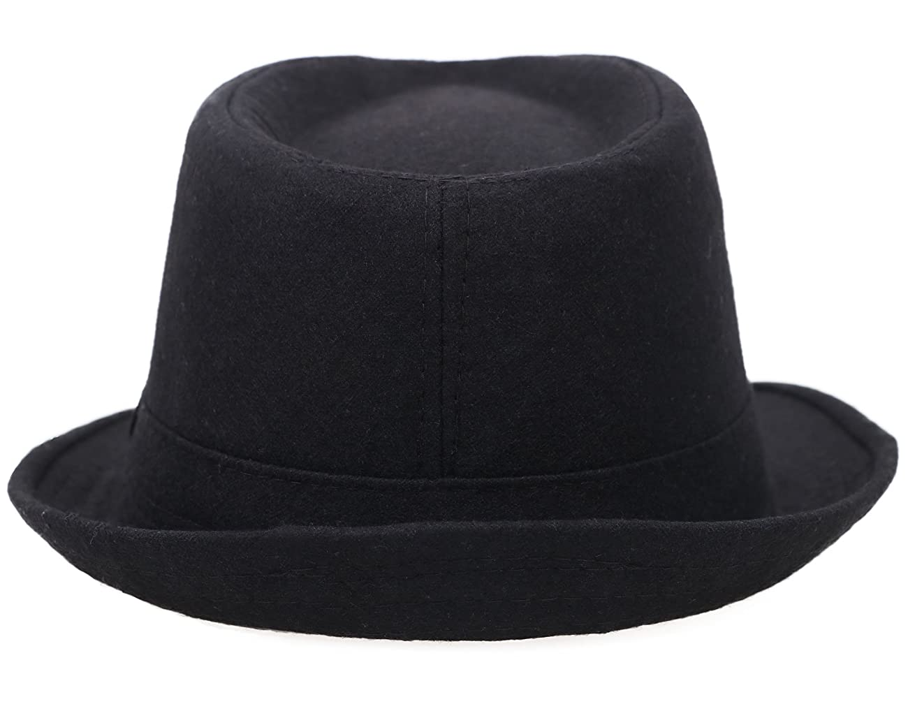 Simplicity Women Men's Fashion Fall / Winter Dapper Fedora Hat w/ Wide Brim 2