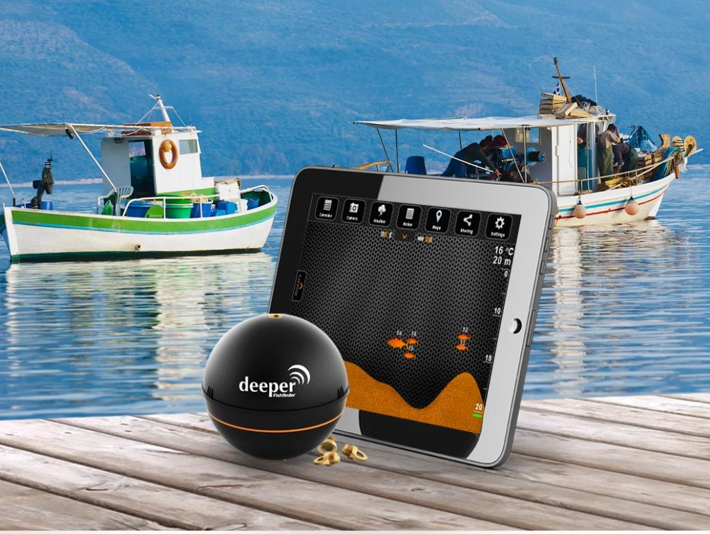 New deeper smart portable fish finder for smartphone or for How does a fish finder work