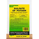 Southern Ag Sulfate of Potash 0-0-50 (Use in potassium low soil, stronger roots, vegetables, flowers, shrubs), 5 LB