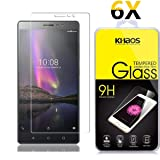 [6-Pack] Khaos for Lenovo PHAB 2 HD Clear Tempered Glass Screen Protector, with Lifetime Replacement Warranty