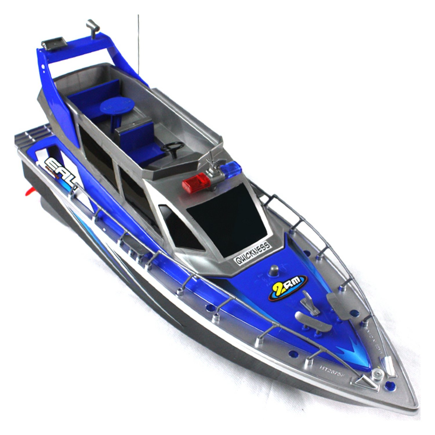 Police Speed RC Boat Rechargeable Batteries Electric Forward Backward ...