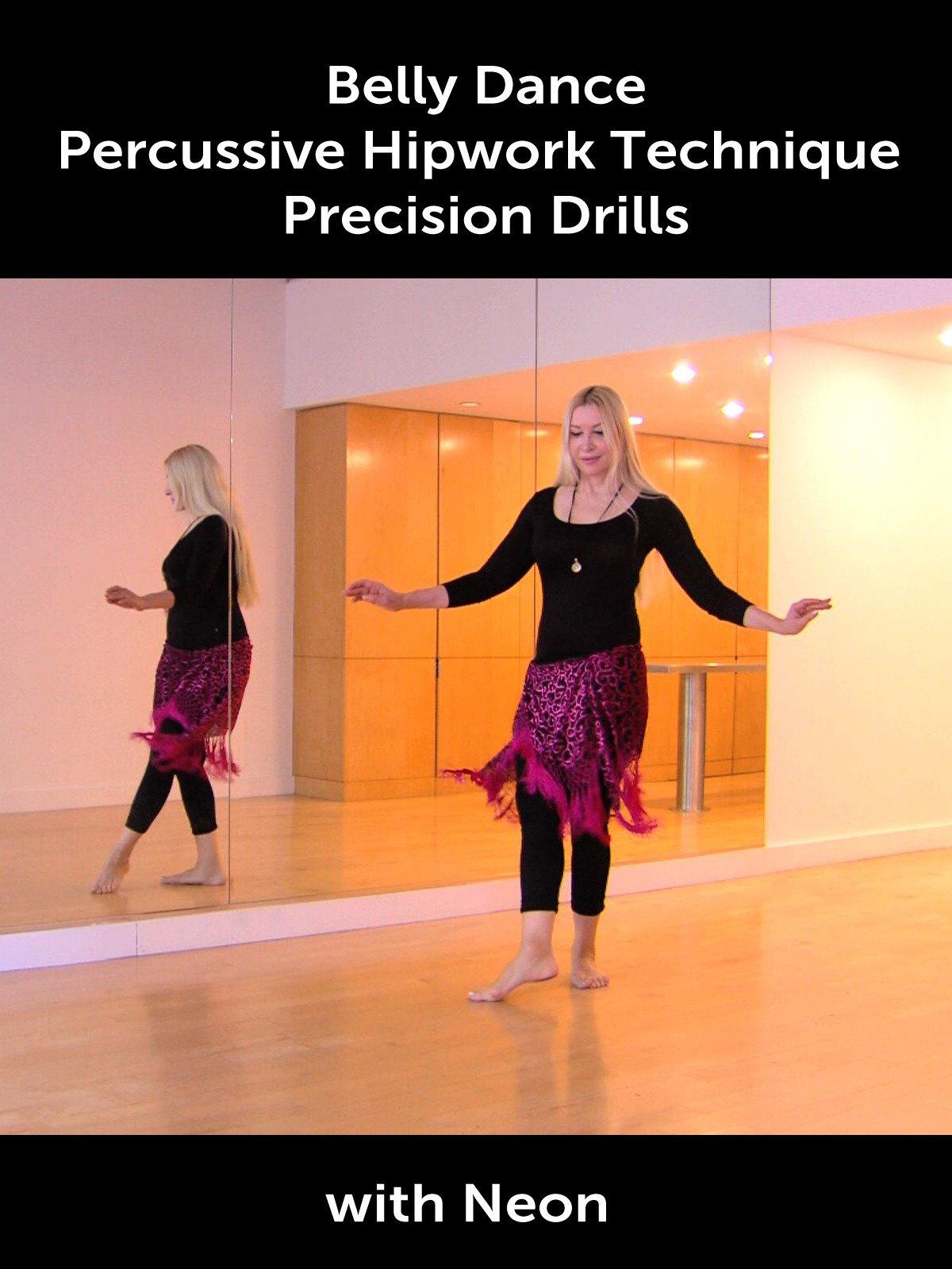 Belly Dance Percussive Hipwork Technique Precision Drills with Neon