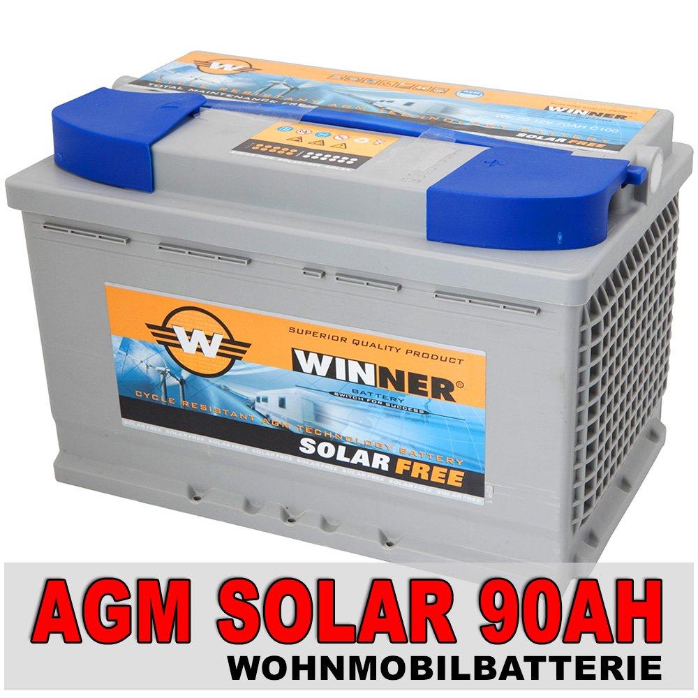 AGM 90Ah Versorgungsbatterie Solarbatterie Bootsbatterie Wohnmobil zyklenfest  BaumarktKundenbewertung und weitere Informationen