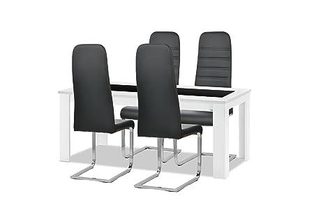 musterring esstisch stuhlset 1 x esstisch typ 2520 schwarzglas. Black Bedroom Furniture Sets. Home Design Ideas