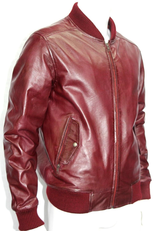 70Er retro Cherry Red soft Nappa bomber style Leder Jacken jetzt bestellen