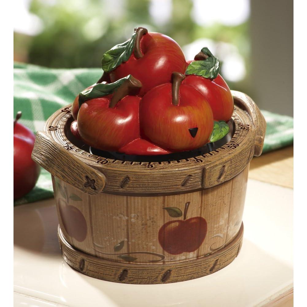 Apple bushel apple kitchen decor timer for Apple themed kitchen ideas
