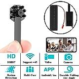 H6 4K WiFi Hidden Camera Mini Spy Camera Wireless Night Vision Motion Detection Nanny Cam Hidden Spy Camera (Color: Black, Tamaño: H6 Night Vision)