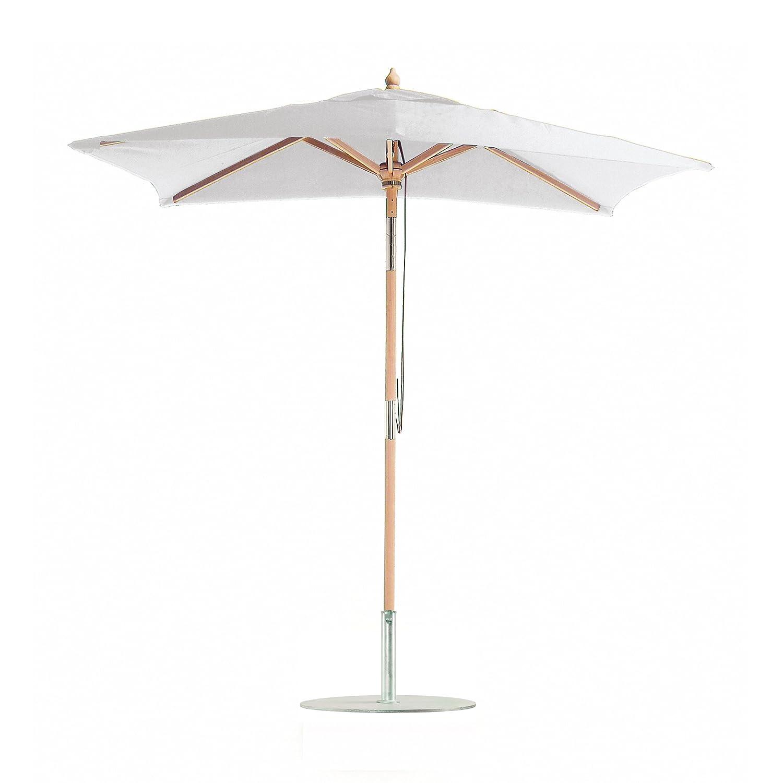 Balkonschirm Eichenholz mit Knickgelenk / 180 x 120 cm / grauweiß online bestellen