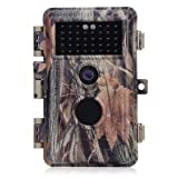 BlazeVideo Night Vision 65ft 16MP HD 1920x1080P Video Game Trail Camera Hunters Wildlife Hunting Cam No Glow IR LED PIR Motion Sensor Activated IP66 Waterproof & Password Protected Photo & Video Model (Color: Camouflage)