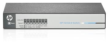 Hewlett Packard - HP 1410-8 Switch - Commutateur - C3 - non géré - 8 x 10 100 - Ordinateur de bureau