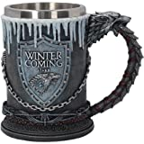 GAME OF THRONES HOUSE STARK TANKARD 14CM (Color: Multicolor)
