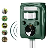 Animal Pest Repeller, Solar Powered Ultrasonic Pest Repellent, Effective Outdoor Waterproof with LED Flashing Light Pest Control, Repels Raccoons, Skunks, Foxes, Dogs, Cats,Rabbits,Deer, Squirrels etc (Color: 501)