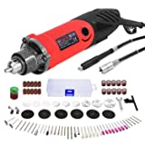 GOXAWEE Rotary Tool Kit 240W Power Die Grinder Set with 1/4 Inch 3-Jaw Chuck (0.5-6 mm), 6 Step Variable Speed, Advanced Flex Shaft & 82Pcs Multifunctional Accessories for DIY Projects (Color: Red, Tamaño: Small)