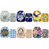 Mama Koala One Size Baby Washable Reusable Pocket Cloth Diapers, 6 Pack with 6 One Size Microfiber Inserts (Stay Cozy) (Color: Stay Cozy, Tamaño: One Size)