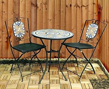 Bonnington Plastics Ltd Kingfisher FSBM Set da giardino con mosaico, 3 pezzi