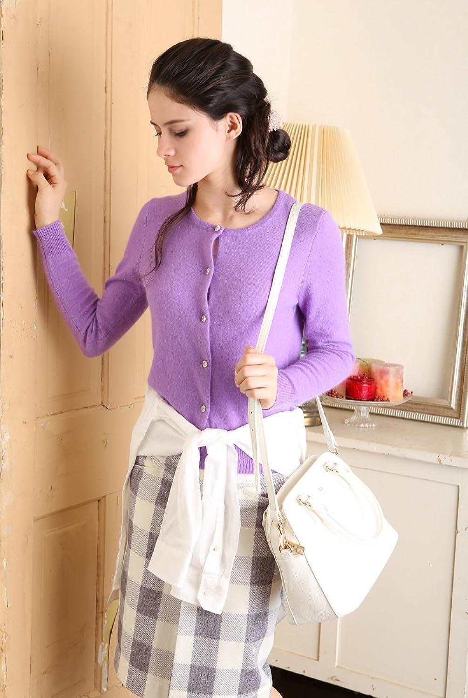 Amazon.co.jp: (ランゲージ)Languageアンゴラ混カラーカーディガン(パープル): 服&ファッション小物通販