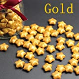 Wax Seal Stamp Kit,Mingting Vintage Wax Stamp Seal Kit Initial Letters Alphabet (Lucky Star Gold) (Color: Lucky star Gold)
