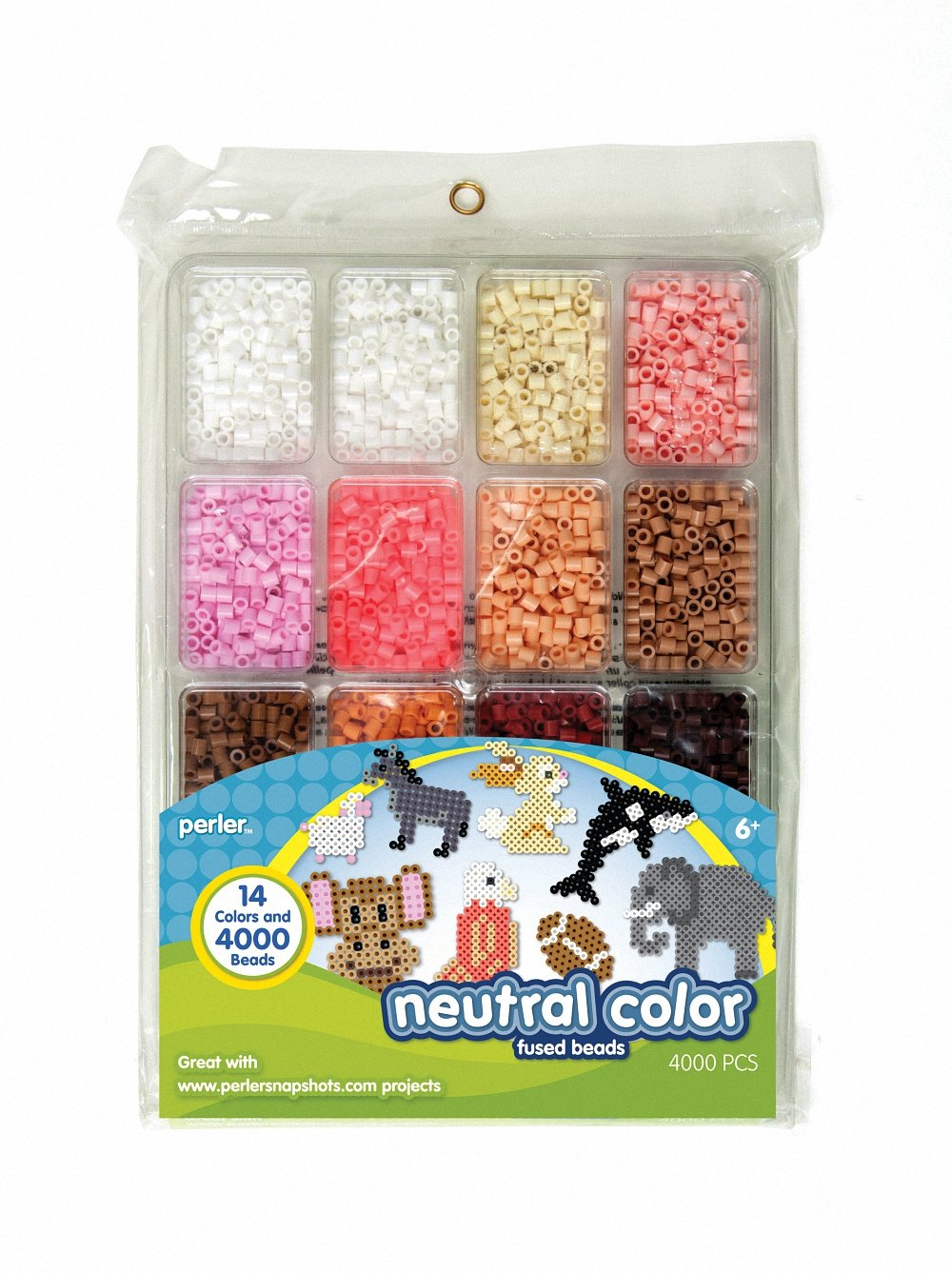 galleon perler fused bead tray 4000 pkg neutral color