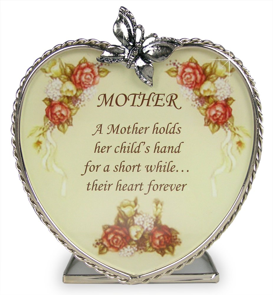 Mom Gifts – Glass Heart Candle Holder – A Mother Holds Her Child's Hand for a Short While Their Hearts Forever – Mom Birthday Gift – Mother-in-law – Mom to Be – Grandma – Great Grandma
