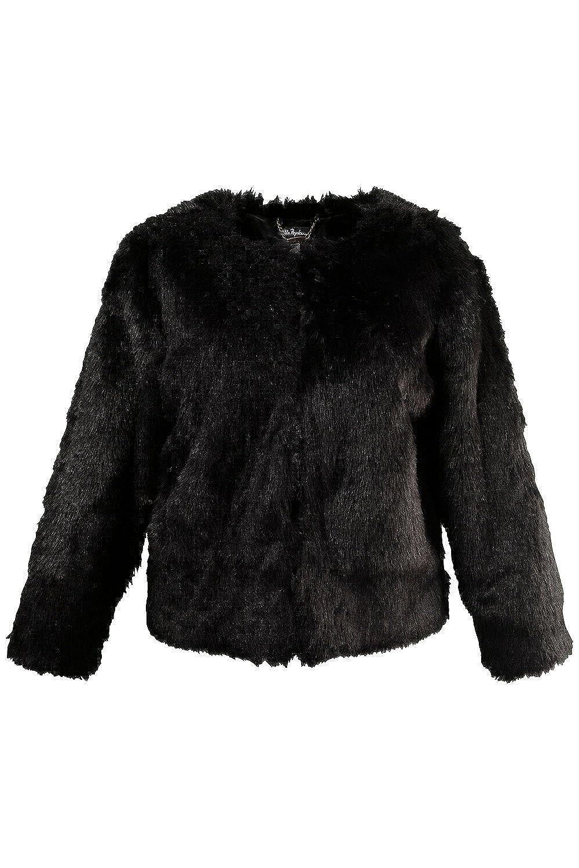 Ulla Popken Damen Kunstfell-Jacke 701803 große Größen bestellen
