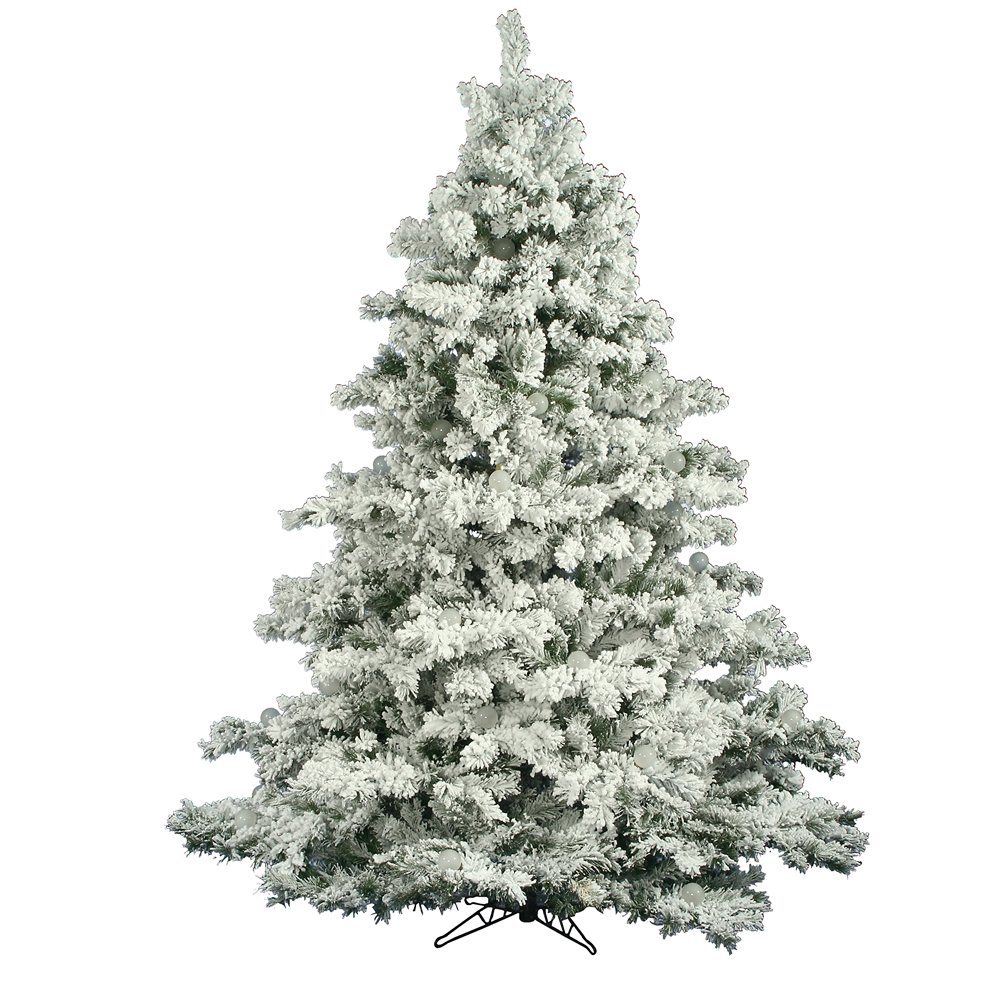 Vickerman Flocked Alaskan Clear Pre-lit Christmas Tree