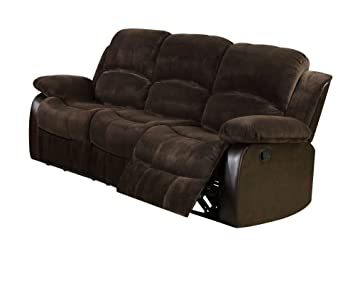 Acme 50470 Masaccio Motion Sofa, Brown Champion and PU Match