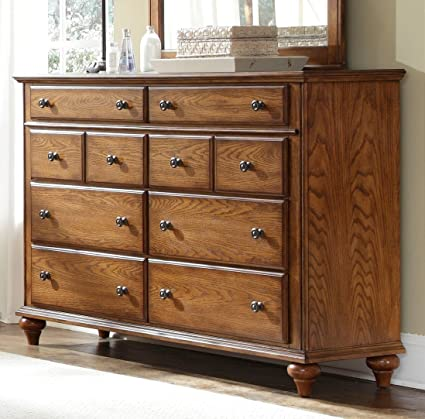 Hayden Place 8 Drawer Dresser Finish: Golden Oak