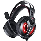 PS4 Headset - Combatwing Gaming Headset with 7.1 Surround Sound, Gaming Headphone with Noise Canceling Mic, Over-Ear Xbox Headphones for Playstation 4, Xbox One, NS (Color: Black)