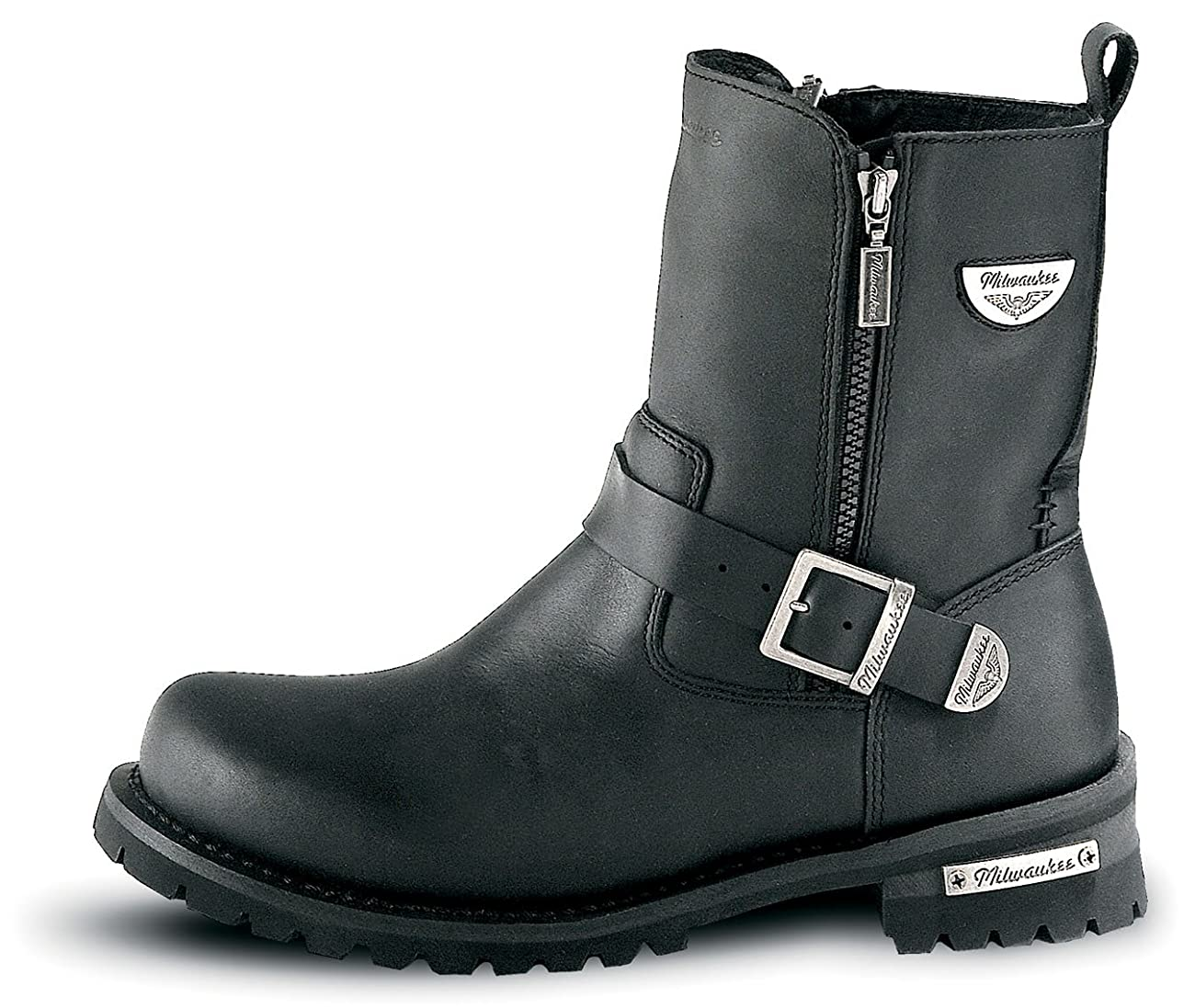 Milwaukee Motorcycle Clothing Company Mens Afterburner Boots (Black, Size 9.5) 0