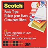 Scotch Book Tape , 2 Inches x 15 Yards, (845) (2 Inches x 15 Yards 2-Pack (Tamaño: 2 Inches x 15 Yards (2-Pack))