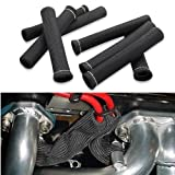 Car 1200 Degree Spark Plug Wire Boots Heat Shield Protector Sleeve Cover fit for SBC BBC 350 454 (8PCS) by Shinehome