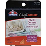 Elmer's Craftbond Photo Corners, Self-Stick, 250 Corners Per Pack, Clear (E4024)