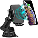 CHOETECH Wireless Car Charger, 10W/7.5W Qi Wireless Fast Charging Car Mount, USB-C Dashboard Phone Holder Compatible with iPhone XS/XS Max/XR/X/8/8+, Samsung Note10/S10/S10+/Note 9/S9/S8/S8+, LG/Pixel (Color: Black)