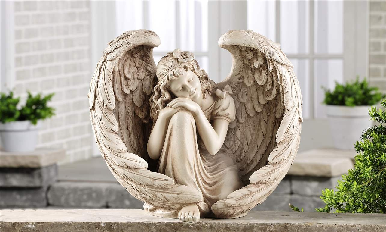 Home Decor Little Rock Angel Statues All Children Statues