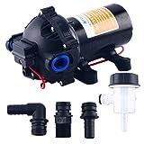 Seaflo 12v Water Pressure Diaphragm Pump 18.9 L/min 5.0 GPM60 Psi - Caravan/rv/boat/marine (Color: Black)