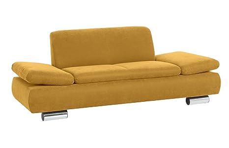 Max Winzer 287121002051766 Sofa Tournai 2-Sitzer samtiges Flachgewebe, mais