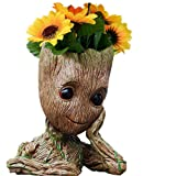 B-Best Guardians of The Galaxy Groot Pen Pot Tree Man Pens Container Or Flowerpot with Drainage Hole Perfect for a Tiny Succulents Plants and Best Gift Idea 6