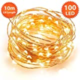 ANSIO Christmas String Lights 100 LED Warm White Micro Fairy Lights Indoor with Remote, 8 Modes Memory & Timer Function, Battery Powered - 10m/32ft Li