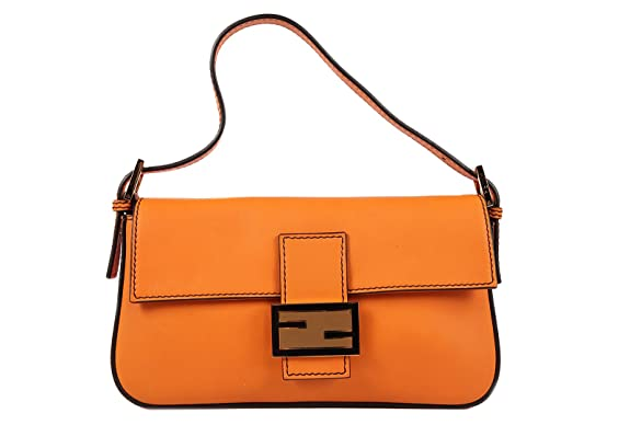 Fendi women's leather orangene shoulder bag