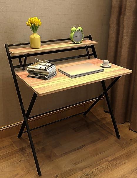 Simple Home Computer desktop Table Desk pieghevole Desk (4 colori facoltativi) ( colore : A , dimensioni : L*W*H: 85*61*93cm )