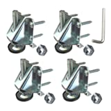 Heavy Duty Leveler Legs w/Lock Nuts - Leveling Feet for Furniture, Cabinets, Workbench - 4 Pack (Color: Silver, Tamaño: 4)