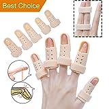 Finger Splint Brace, Mallet Finger Splints Pinky, Plastic Finger Protector Support for Arthritis Basketball,5 Pcs Finger Immobilizer for Finger Joint Pain (Color: 1#, Tamaño: 5 Piece)